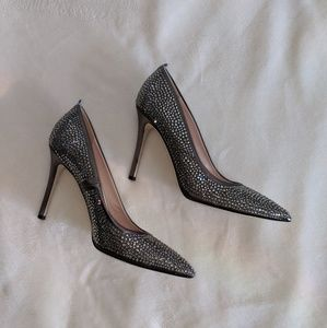 SJP By Sarah Jessica Parker Gray Jeweled Pumps
